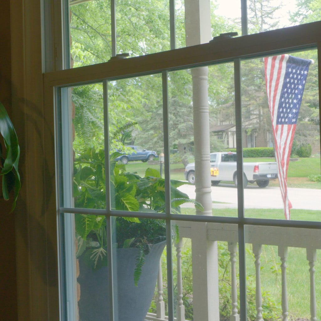Window in the summer.